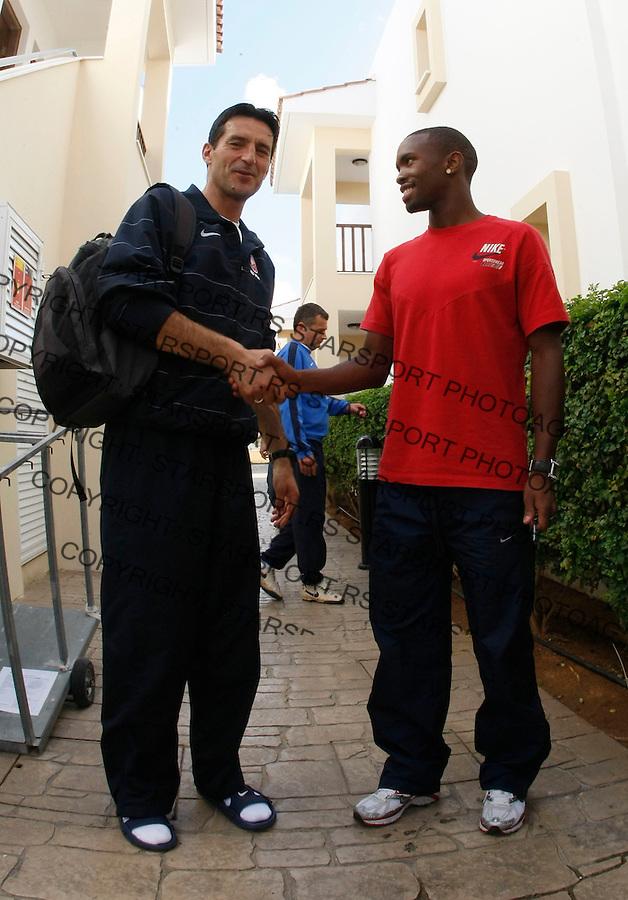 Fudbal,.Pripreme FK Crvena Zvezda, Cyprus.Bernard Parker, and Head coach Cedomir Janevski.Agia Napa, 01.20.2009.foto: Srdjan Stevanovic/Starsportphoto.com ©