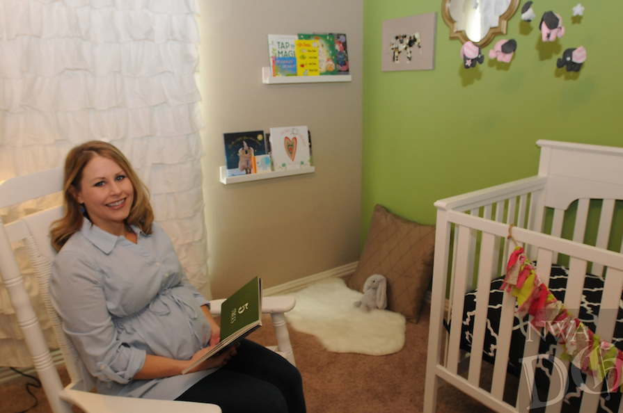NWA Democrat-Gazette/FLIP PUTTHOFF <br /> The nursery, particularly the corner nook, is the favorite space for Beth Bobbitt. She and her husband, Chris, have been preparing    Nov. 7, 2015     the nursery for their first child, a daughter, expected to arrive in late December.