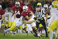 Stanford, California - Thursday, November 7, 2013: The Stanford football team defeated Oregon 26-20 at Stanford Stadium.