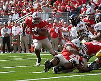 13 October 2007: Ohio State running back Brandon Saine (3)..The Ohio State Buckeyes defeated the Kent State Golden Flashes 48-3 on  October 13, 2007 at Ohio Stadium, Columbus, Ohio.