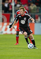 16 April 2011: D.C. United midfielder Dax McCarty #10 in action during an MLS game between D.C. United and the Toronto FC at BMO Field in Toronto, Ontario Canada..D.C. United won 3-0.