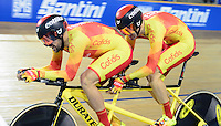 Picture by Simon Wilkinson/SWpix.com - 02/03/2017 - Cycling 2017 UCI Para-Cycling Track World Championships, Los Angeles USA - Gold - Spain's AVILA RODRIGUEZ Ignacio and FONT BERTOLI Joan<br />