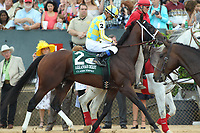 HOT SPRINGS, AR - APRIL 15: Classic Empire #2, with jockey Julien Leparoux aboard before the running of the Arkansas Derby at Oaklawn Park on April 15, 2017 in Hot Springs, Arkansas. (Photo by Justin Manning/Eclipse Sportswire/Getty Images)