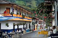 People enjoy a day in the town of Jardin in Antioquia August 1, 2012. Photo by Eduardo Munoz Alvarez / VIEW.