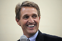 Apache Junction, Arizona. October 19, 2012 - Arizona Congressman Jeff Flake smiles during a Town Hall at the Mountain View Lutheran Church in Apache Junction, Arizona. Flake is running for the senate seat Senator Jon Kyl is leaving as he retires. Both politicians spoke to about 100 citizens. Photo by Eduardo Barraza © 2012