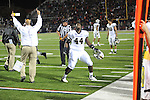 Vanderbilt defensive tackle Barron Dixon (44) reacts to a last minute touchdown that gave the Commodores the victory over Ole Miss at Vaught-Hemingway Stadium in Oxford, Miss. on Saturday, November 10, 2012. Vanderbilt won 27-26.