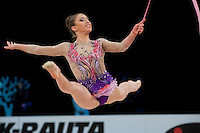 February 27, 2016 - Espoo, Finland - KATRIN TASEVA of Bulgaria performs at Espoo World Cup 2016.