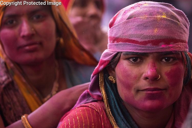 The celebration of the spring colour festival of Holi is especially boisterous in the town of Barsana near Mathura in Uttar Pradesh, India.