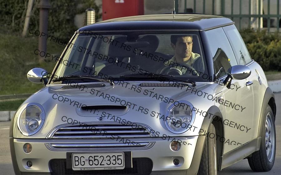 SPORT FUDBAL REPREZENTACIJA SCG TELEOPTIK ZEMUN TRENING OKUPLJANJE Dejan Stankovic 21.3.2005. foto: Pedja Milosavljevic<br />