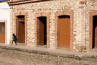 Corner store in the 19th century mining town of Mineral de Pozos, Guanajuato, Mexico.