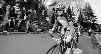 Fleche Wallonne 2012..Evelyn Stevens attacking for the win