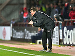 Hearts v St Johnstone...03.12.11   SPL .Saints asst manager Tommy Wright encourages his team.Picture by Graeme Hart..Copyright Perthshire Picture Agency.Tel: 01738 623350  Mobile: 07990 594431