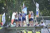 FIERLJEPPEN: GRIJPSKERK: 27-08-2016, Nederlands Kampioenschap Fierljeppen/Polsstokverspringen, de finalisten, ©foto Martin de Jong