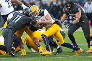 Baltimore, MD - December 10, 2016: Navy Midshipmen quarterback Zach Abey (9) tries to get a first down during game between Army and Navy at  M&T Bank Stadium in Baltimore, MD.   (Photo by Elliott Brown/Media Images International)
