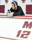 Kevin Hayes (BC - 12) - The visiting University of Notre Dame Fighting Irish defeated the Boston College Eagles 7-2 on Friday, March 14, 2014, in the first game of their Hockey East quarterfinals matchup at Kelley Rink in Conte Forum in Chestnut Hill, Massachusetts.