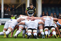 Matt Banahan of Bath Rugby watches a scrum. West Country Challenge Cup match, between Bath Rugby and Exeter Chiefs on October 10, 2015 at the Recreation Ground in Bath, England. Photo by: Patrick Khachfe / Onside Images