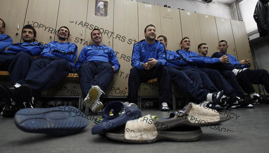 Sport Fudbal Soccer Red Star Crvena Zvezda pocetak priprema za novu sezonu 8.1.2009. (credit image photo: Pedja Milosavljevic / STARSPORT)