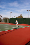 Don Wright, 78, plays tennis at the Bell Recreation Center December 10, 2010. He is a local minister, is a retired principal. He golfs Thursdays, motorcycles with the local club on Tuesdays and plays tennis several times a week...2010 marks the 50th anniversary of Sun City, America's first retirement city that remains the largest today with more than 40,000 residents 55 and older.