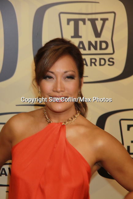 "Carrie Ann Inaba (In Living Color & Dancing with The Stars) at the 10th Anniversary of the TV Land Awards on April 14, 2012 to honor shows ""Murphy Brown"", ""Laverne & Shirley"", ""Pee-Wee's Playhouse"", ""In Loving Color"" and ""One Day At A Time"" and Aretha Franklin at the Lexington Armory, New York City, New York. (Photo by Sue Coflin/Max Photos)"