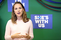 PHILADELPHIA, PA - OCTOBER 10 :  Academy-award winning actress and activist Natalie Portman pictured campaigning for Hillary Clinton at the Northeast Philadelphia Coordinated Campaign Office in Philadelphia, Pennsylvania on October 10, 2016  photo credit  Star Shooter/MediaPunch