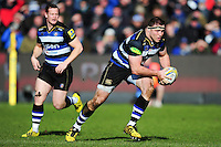 Henry Thomas of Bath Rugby in possession. Aviva Premiership match, between Bath Rugby and London Irish on March 5, 2016 at the Recreation Ground in Bath, England. Photo by: Patrick Khachfe / Onside Images