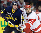 Carter Madsen (Merrimack - 9), Garrett Noonan (BU - 13) - The visiting Merrimack College Warriors tied the Boston University Terriers 1-1 on Friday, November 12, 2010, at Agganis Arena in Boston, Massachusetts.