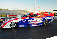 Jan. 19, 2012; Jupiter, FL, USA: NHRA funny car driver Johnny Gray during testing at the PRO Winter Warmup at Palm Beach International Raceway. Mandatory Credit: Mark J. Rebilas-