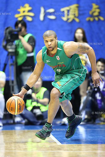 Jeffrey Gibbs (Toyota),<br /> MAY 25, 2015 - Basketball : <br /> National Basketball League &quot;NBL&quot; Playoff FINALS 2014-2015 <br /> GAME 3 match between <br /> TOYOTA ALVARK TOKYO 69-81 AISIN SeaHorses Mikawa<br /> at 2nd Yoyogi Gymnasium, Tokyo, Japan. <br /> (Photo by Shingo Ito/AFLO SPORT)