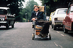 Stephen Hawking, 1981 Cambridge UK having left home makes his way to college.