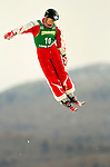 16 January 2005 - Lake Placid, New York, USA - Elizabeth Gardner representing Australia, competes in the FIS World Cup Ladies' Aerial acrobatic competition, ranking 7th for the day at the MacKenzie-Intervale Ski Jumping Complex, in Lake Placid, NY. ..Mandatory Credit: Ed Wolfstein Photo.