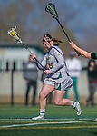 30 March 2016: University of Vermont Catamount Midfielder Bailey Saneman, a Sophomore from Jarrettsville, MD, in second half action against the Manhattan College Jaspers at Virtue Field in Burlington, Vermont. The Lady Cats defeated the Jaspers 11-5 in non-conference play. Mandatory Credit: Ed Wolfstein Photo *** RAW (NEF) Image File Available ***