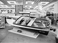 January 1971 --- Jet Boat at 1971 International Boat Show --- Image by © JP Laffont
