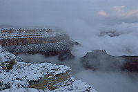 Grand Canyon National Park, South Rim, Winter, snow
