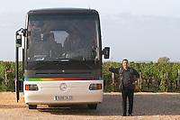 bus in the vineyard