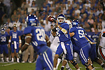 UK quarterback throws a screen pass to runningback Derrick Locke against Auburn at Commonwealth Stadium on Saturday, Oct. 9, 2010. Photo by Scott Hannigan | Staff