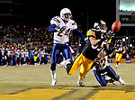 PITTSBURGH - JANUARY 11: Eric Weddle #32 of the San Diego Chargers is called for pass interference against Nate Washington #85 of the Pittsburgh Steelers during their AFC Divisional Playoff Game on January 11, 2009 at Heinz Field in Pittsburgh, Pennsylvania. The Steelers defeated the Chargers 35 to 24. (Photo by Rob Tringali//) *** Local Caption *** Eric Weddle;Nate Washington