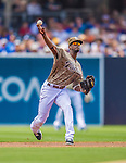 23 June 2013: San Diego Padres  infielder Pedro Ciriaco in action against the Los Angeles Dodgers at Petco Park in San Diego, California. The Dodgers defeated the Padres 3-1, splitting their 4-game Divisional Series at 2-2. Mandatory Credit: Ed Wolfstein Photo *** RAW (NEF) Image File Available ***