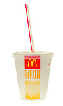 Mcdonalds Cola Drink with Straw - August 2009