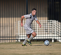Brandon Allen (10) of Georgetown looks to pass the ball during the game at North Kehoe Field in Washington, DC.  Georgetown defeated San Diego, 3-1.