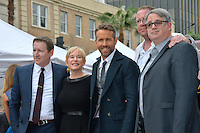 Actor Ryan Reynolds &amp; mother Tammy Reynolds &amp; brothers at the Hollywood Walk of Fame Star Ceremony honoring actor Ryan Reynolds.<br /> Los Angeles, CA. <br /> December 15, 2016<br /> Picture: Paul Smith/Featureflash/SilverHub 0208 004 5359/ 07711 972644 Editors@silverhubmedia.com