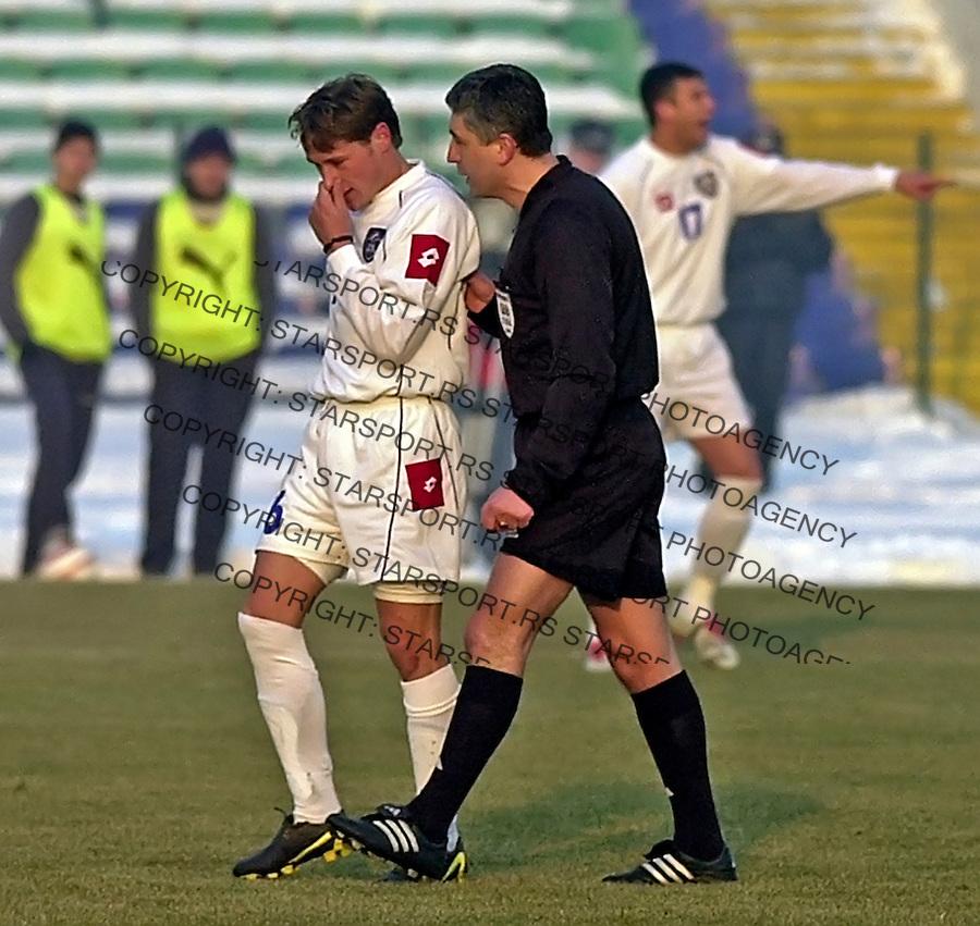 SPORT FUDBAL PRIJATELJSKA BUGARSKA  REPREZENTACIJA SCG Nikola Trajkovic 9.2.2005. foto: Pedja Milosavljevic<br />