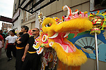 Seattle's Chinatown-ID Dragon Fest 2012.  Lion & Dragon Dances (Mak Fai Washington Kung Fu Club).