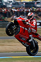 May 22, 2010 - Le Mans, France - Nicky Hayden powers his bike during a free practice prior the French Grand Prix on May 22, 2010. (Photo Andrew Northcott/Nippon News).