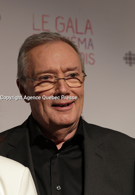 Gilbert Sicotte, best actor for  Paul a Quebec<br /> at the Gala du cinema Quebecois, March 20, 2016<br /> <br /> Photo : Pierre Roussel - Agence Quebec Presse