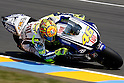 May 21, 2010 - Le Mans, France - Valentino Rossi powers his bike during practices prior the French Grand Prix at le Mans circuit, France, on May 21, 2010. (Photo Andrew Northcott/Nippon News).