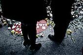 Warsaw 13/04/2010 Poland<br /> People mourning the tragic death of President Lech Kaczynski and his wife.<br /> on pictures: bouquets of flowers and candles in front of Polish parliament.<br /> Photo: Adam Lach / Napo Images for The New York Times<br /> <br /> Zaloba po tragicznej smierci Prezydenta Lecha Kaczynskiego i jego malzonki.<br /> na zdjeciu: bukiety kwiatow i swieczki przed polskim sejmem.<br /> Fot: Adam Lach / Napo Images for The New York Times