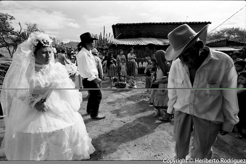 A Zapotec Native Newly Married Couple Dances As Musicians Play Traditional Dances During The