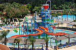 Aerial view of a water park playground