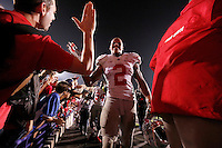 Ohio State Buckeyes linebacker Ryan Shazier (2) gives fans a high five after the NCAA football game between Ohio State and Northwestern at Ryan Field in Evanston, Illinois on Saturday, October 5, 2013. (Columbus Dispatch photo by Jonathan Quilter)