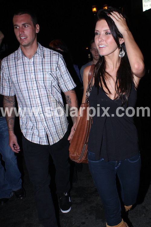 **ALL ROUND PICTURES FROM SOLARPIX.COM**.**WORLDWIDE SYNDICATION RIGHTS**.**NO PUBLICATION IN AUSTRALIA, DENMARK, GERMANY, NEW ZEALAND, OR USA**.American reality television personality Audrina Patridge seen leaving Kiss Lounge with her man after a long night out in Hollywood LA USA.JOB REF: 7239            LAP/HD       DATE: 07.09.08.**MUST CREDIT SOLARPIX.COM OR DOUBLE FEE WILL BE CHARGED* *UNDER NO CIRCUMSTANCES IS THIS IMAGE TO BE REPRODUCED FOR ANY ONLINE EDITION WITHOUT PRIOR PERMISSION*